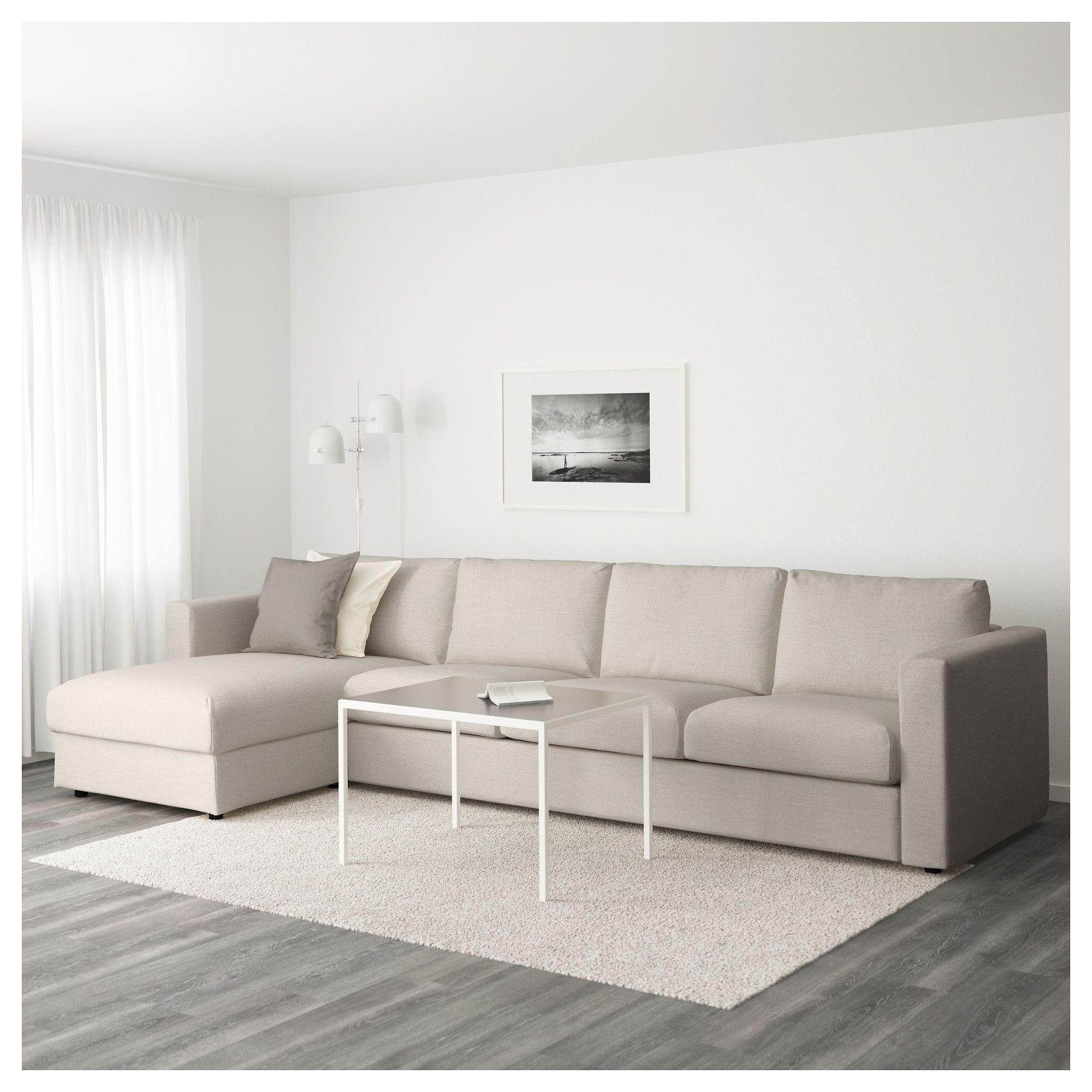 Ikea Vimle Sectional 4 Seat With Chaise Gunnared Beige Cozy Sofa Sectional Sofa