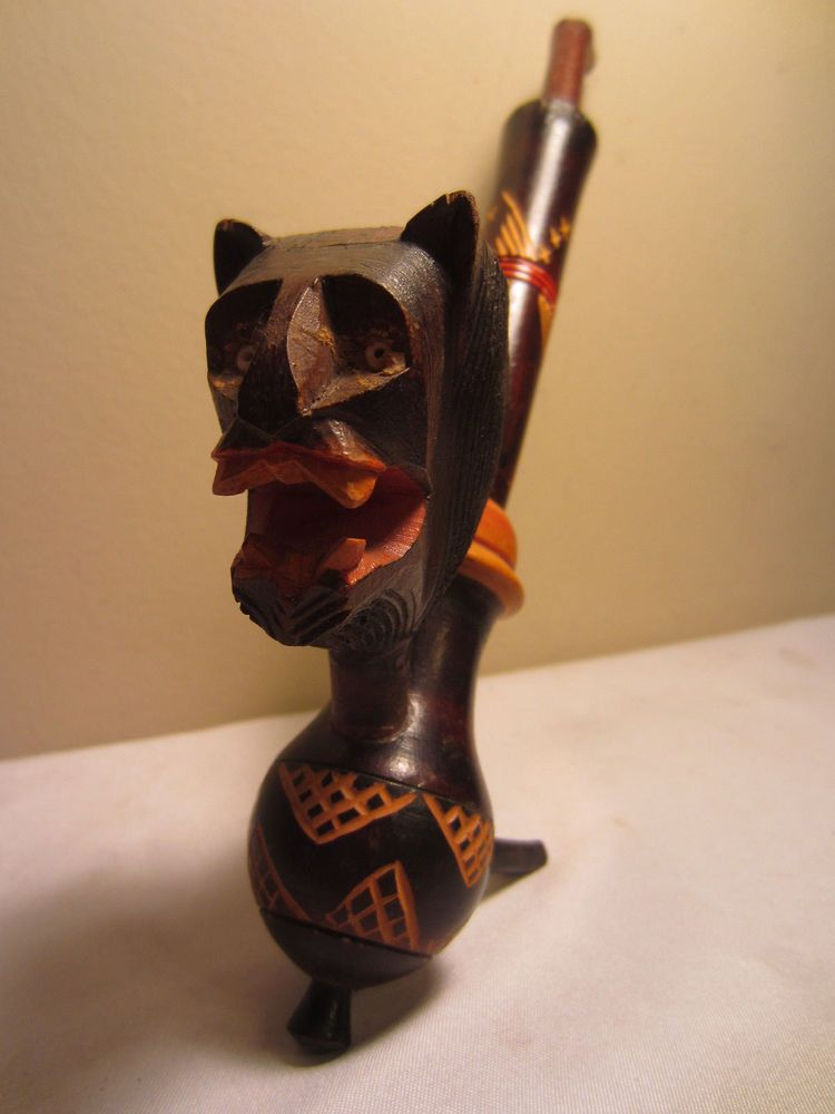 Carved Figures Latest Collection Of Vintage Carved Wood Lion Pipe Antiques