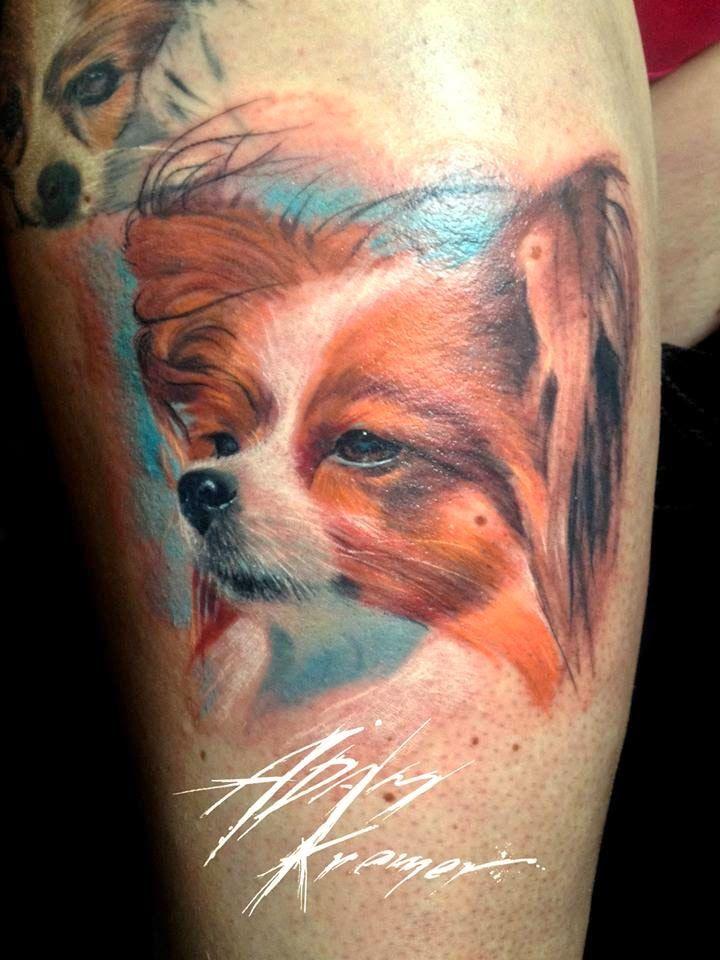 c89aadcbe5a74 Adam Kremer: Doggy Fox Tattoo, Tattoo Artists, Watercolor Tattoo, Art  Projects,