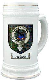 Alexander clan macdonnell Clan Crest / Clan Badge 22 oz. Stein Mug