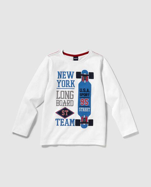 d87b4bf88d739 Camiseta de niño Freestyle en blanco con print