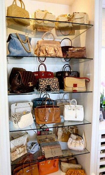 Purse Closet, Perfect Idea For A Small Closet Space