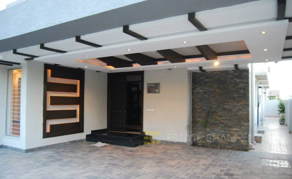 Modern Homes Car Porch Main Door False Ceiling Car Porch Design