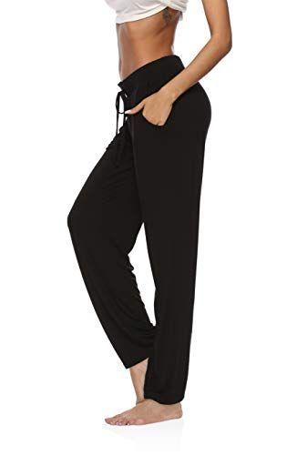 DIBAOLONG Womens Yoga Pants Wide Leg Comfy Drawstring Loose Straight Lounge Running Workou