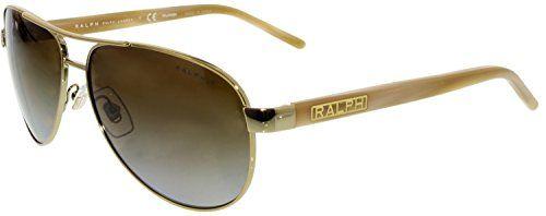 feb1b73b2a Ralph by Ralph Lauren Women s 0ra4004 Polarized Aviator Sunglasses ...
