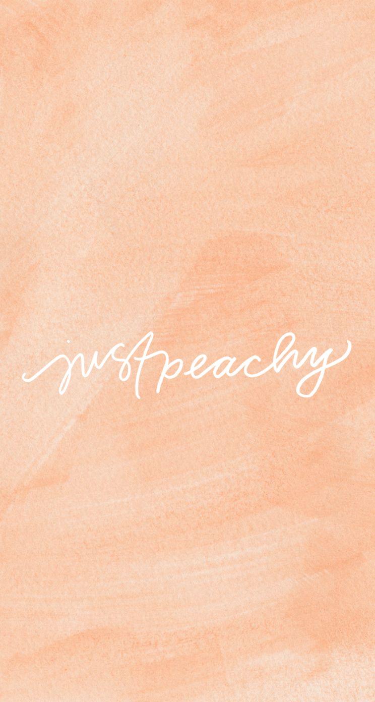 Coral peach watercolour Just peachy iphone wallpaper ...
