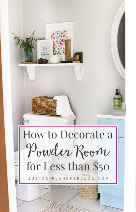How to Decorate a Powder Room for Less than $50 | Awesome Blogger ...