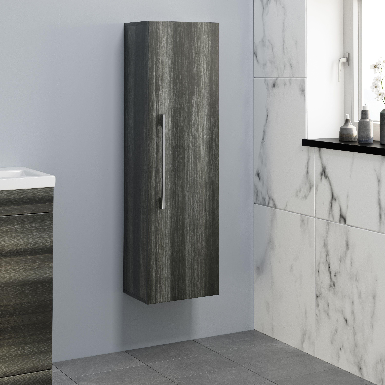 Aurora Charcoal Grey Wall Hung Tall Bathroom Cabinet 350 X 250mm Bathroom Tall Cabinet Grey Walls Tall Bathroom Storage Cabinet [ 3000 x 3000 Pixel ]