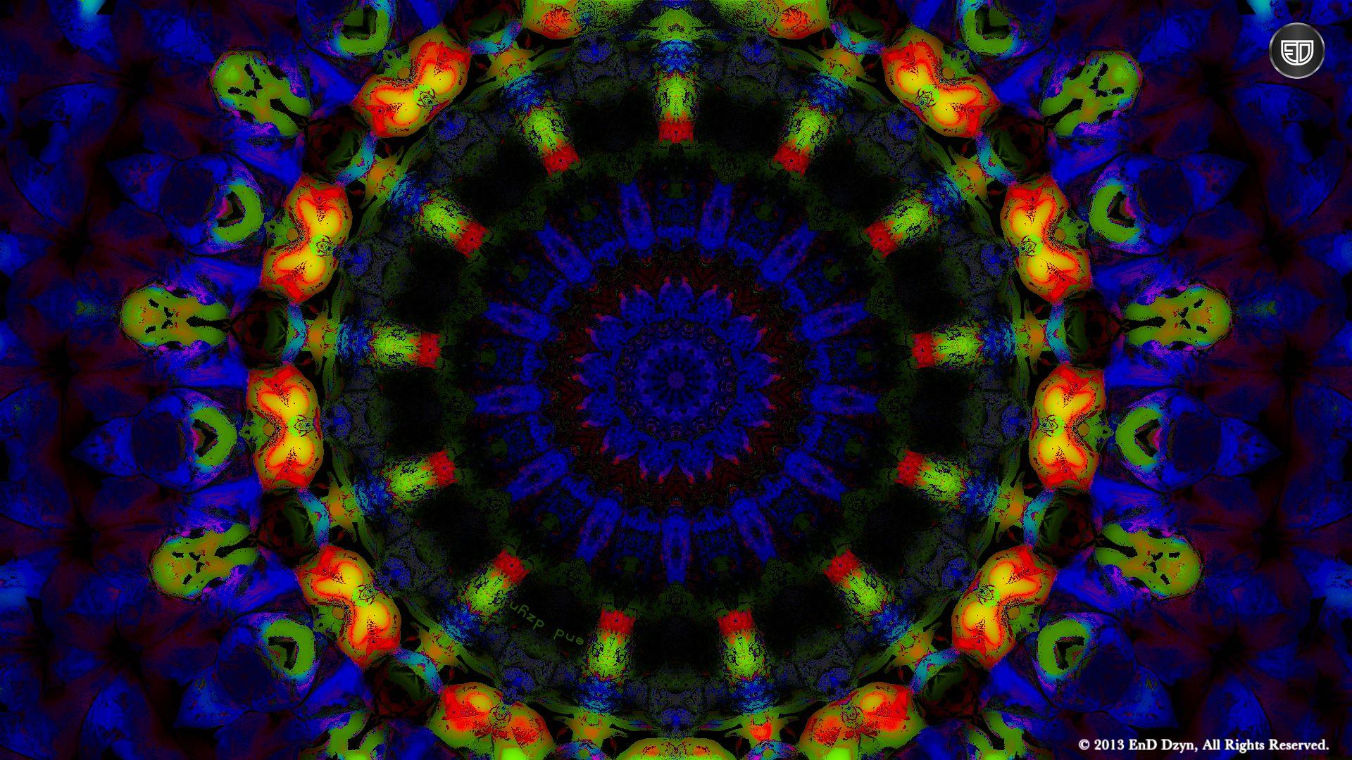 Trippy Psychedelic 3D HD Trippy Blue Psychedelic Desktop