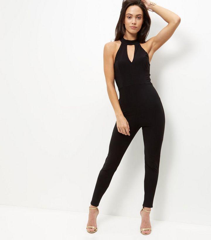 6f2f03902 Combinaison noire à tour de cou Tall | Fashion | Combinaison noire ...