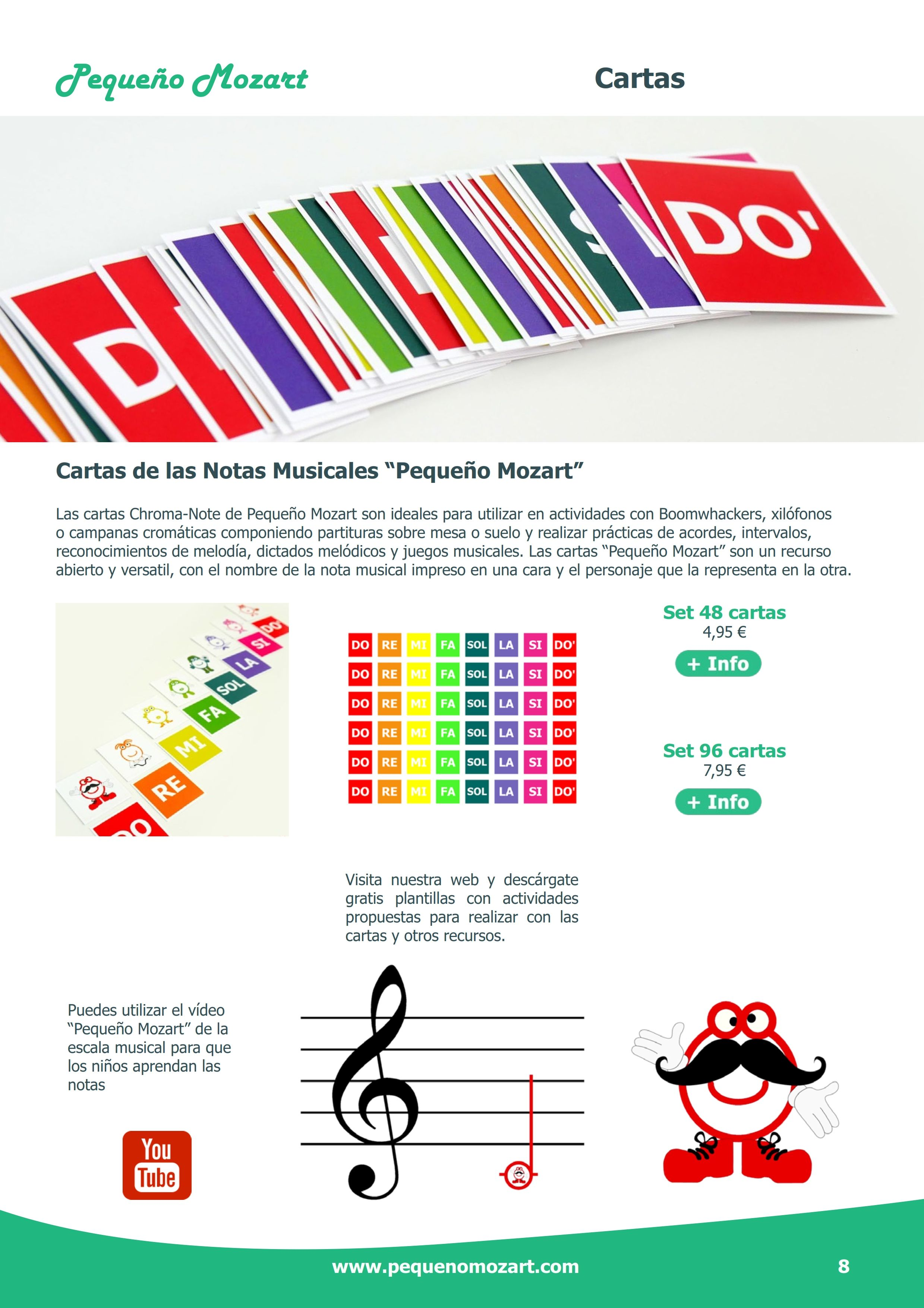 Cartas De Las Notas Musicales Pequeño Mozart Pequeño Mozart Notas Musicales Notas Musicales