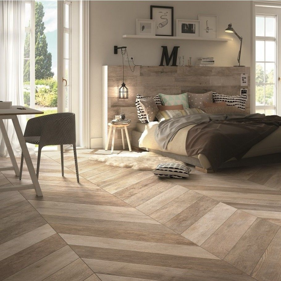 DuJour Chevron Natural Daylight 8x48 Porcelain Tile