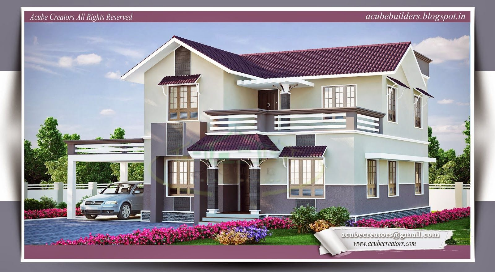 Kerala beautiful house plans photos home decoration for Home front design model
