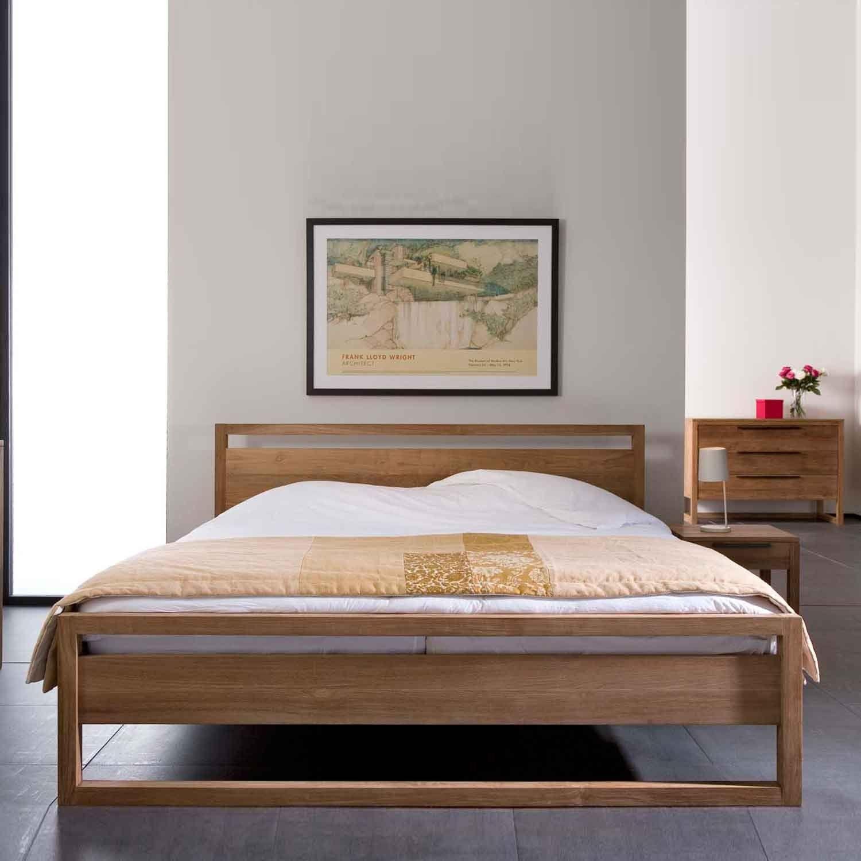teak-light-frame-bed | furniture | Pinterest | Queen bedroom, Teak ...