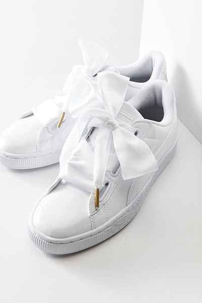puma basket heart patent sneaker low