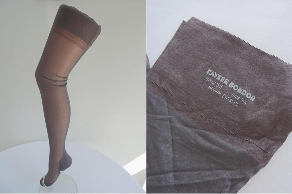 8bc724408b4 Vintage 1940s WW2 Era Grey Ladies Stockings - Kayser Bondor - Seamed - Size  9½  Kayser  Stockings