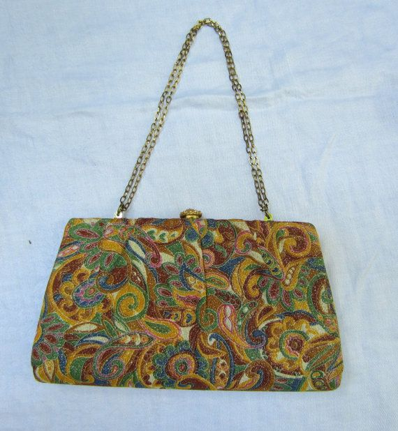 Metalic Paisley hangbag by heydarlin on Etsy, $24.00