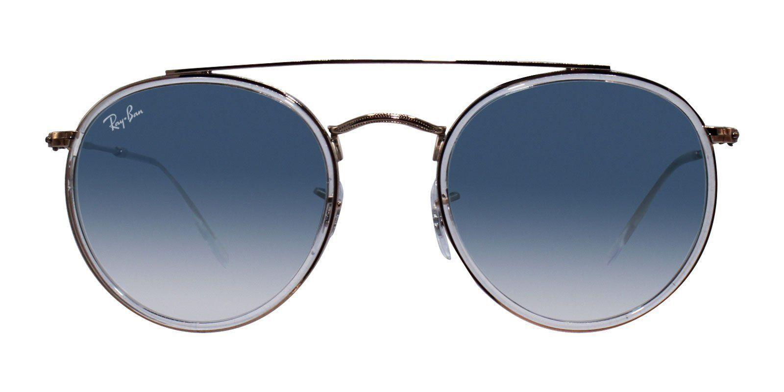 da77fe68ae Ray Ban - RB3647N Rose Gold - Blue sunglasses