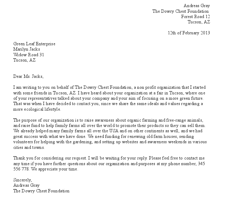 Formal Letters For Leave Application A Leave Request Letter To