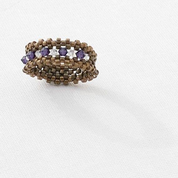 Tutorial anillo de abalorios que estoy con la por JewelryTales