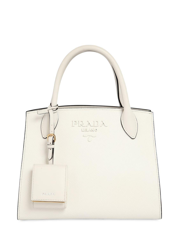 3975b9ad154c PRADA SMALL MONOCHROME SAFFIANO LEATHER BAG. #prada #bags #shoulder bags  #hand bags #leather #lining #