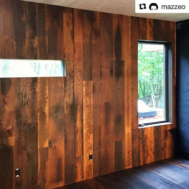 Great #WOCAoil For More Than Just Floors↕ #woodpaneling #shiplap #plankwalls
