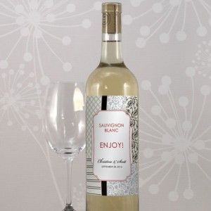 étiquette bouteille de vin