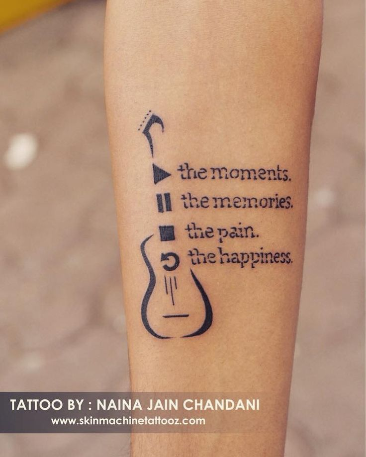 Photo of Tattoo for a music lover. Done by: Naina jain chandani Skin M …