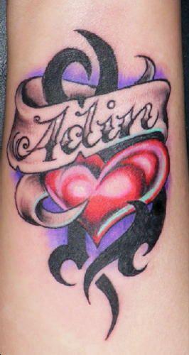 Baby Name Tattoo Name Tattoo Designs Heart Tattoos With Names Tattoos