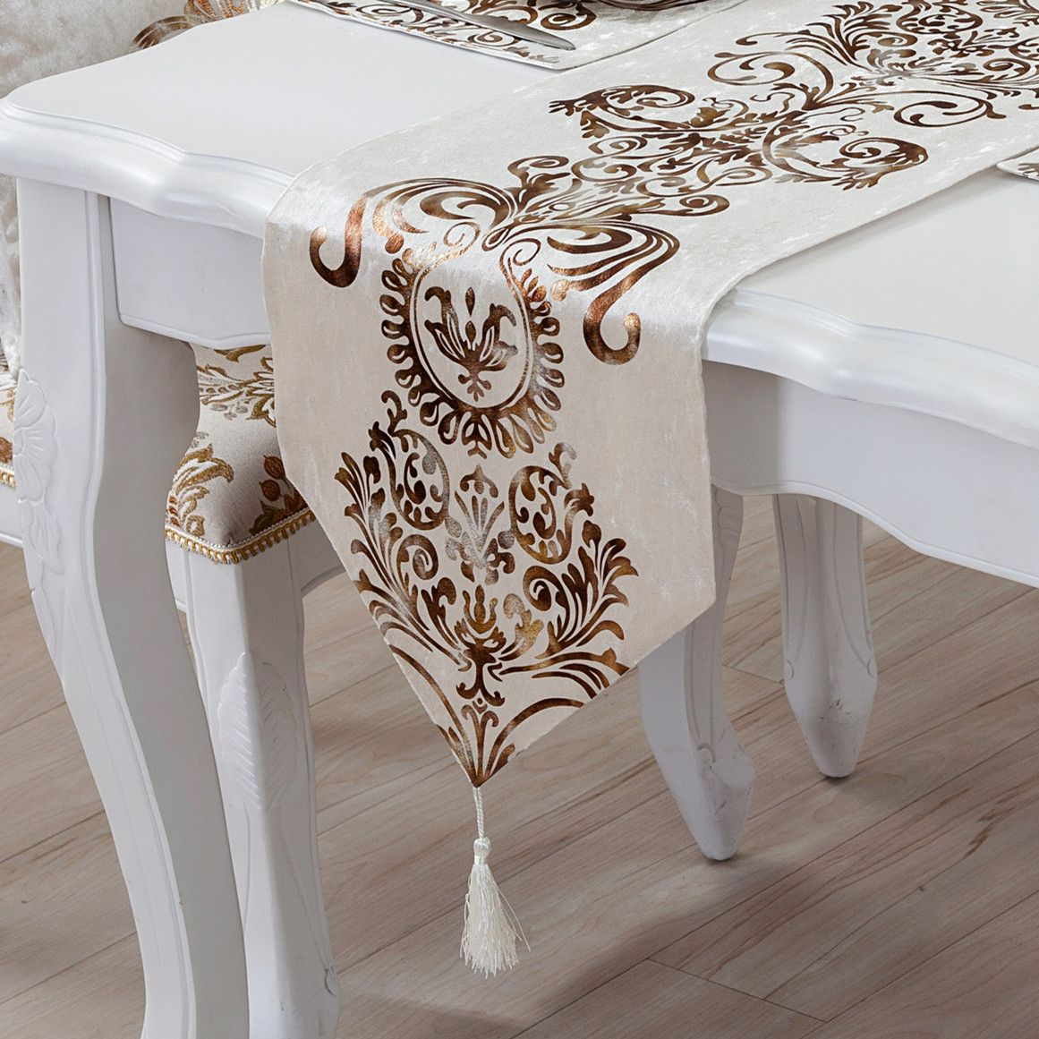 Multi Sizes Simple And Stylish Modern Luxury Table Runner European Neo Classical Bed End Cloths Tablec Embroidered Table Runner Luxury Table Linen Table Runner [ 1161 x 1161 Pixel ]