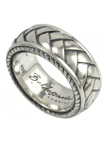 Baldessarini men silver band ring