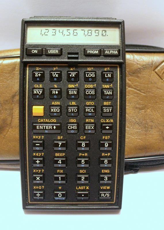 Hewlett Packard Hp 41cv Calculator Case Working Clean Serial 2303s40034 Calculator Hewlett Packard Graphing Calculator