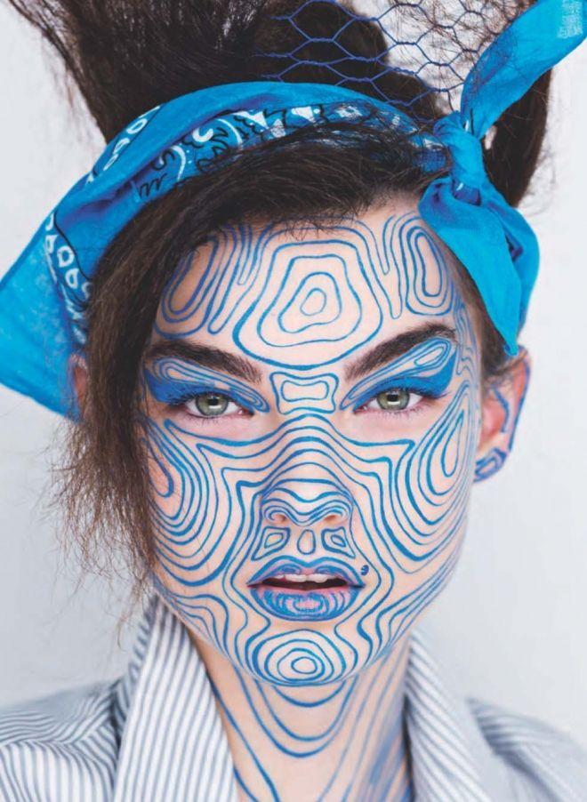 Wonderful Face Painting By Rankin & Andrew Gallimore. |FunPalStudio| Art, Artist, Artwork, Illustrations, Entertainment, beautiful, drawings, creativity, painting, face painting.