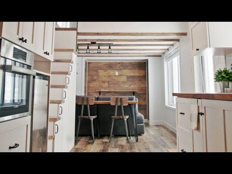 Stunning tiny house is absolutely perfect youtube home inside design small space living also what   in our new kitchen pinterest rh