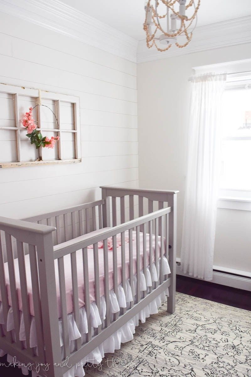 How To Update An Old Curtain Rod Baby Girl Room Decor Farmhouse
