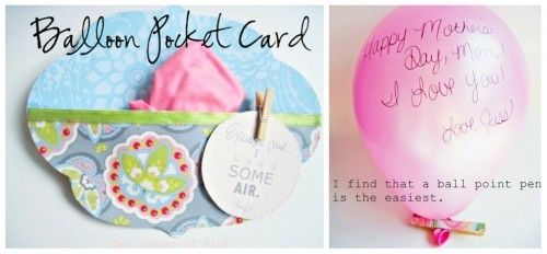 Homemade Balloon Card Template
