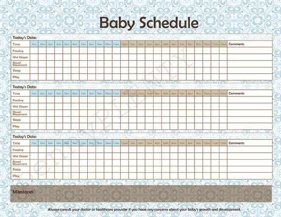 Baby Sleep And Eating Schedule Daily Schedule And