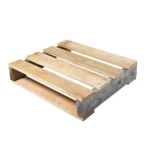 Crates & Pallet 24 in. x 24 in. x 5 in. Reclaimed Wood Quarter Pallet Kit 94716 at The Home Depot - Mobile