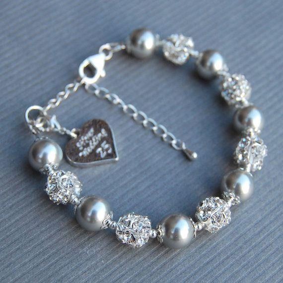 Silver Wedding Gift Silver Wedding Anniversary Charm Bracelet 25th