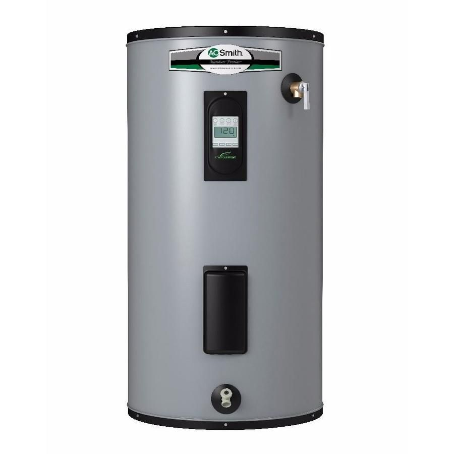 A O Smith Signature Premier 50 Gallon Short 12 Year Limited 5500 Watt Double Element Electric Water Heater Electric Water Heater Water Heater Electricity