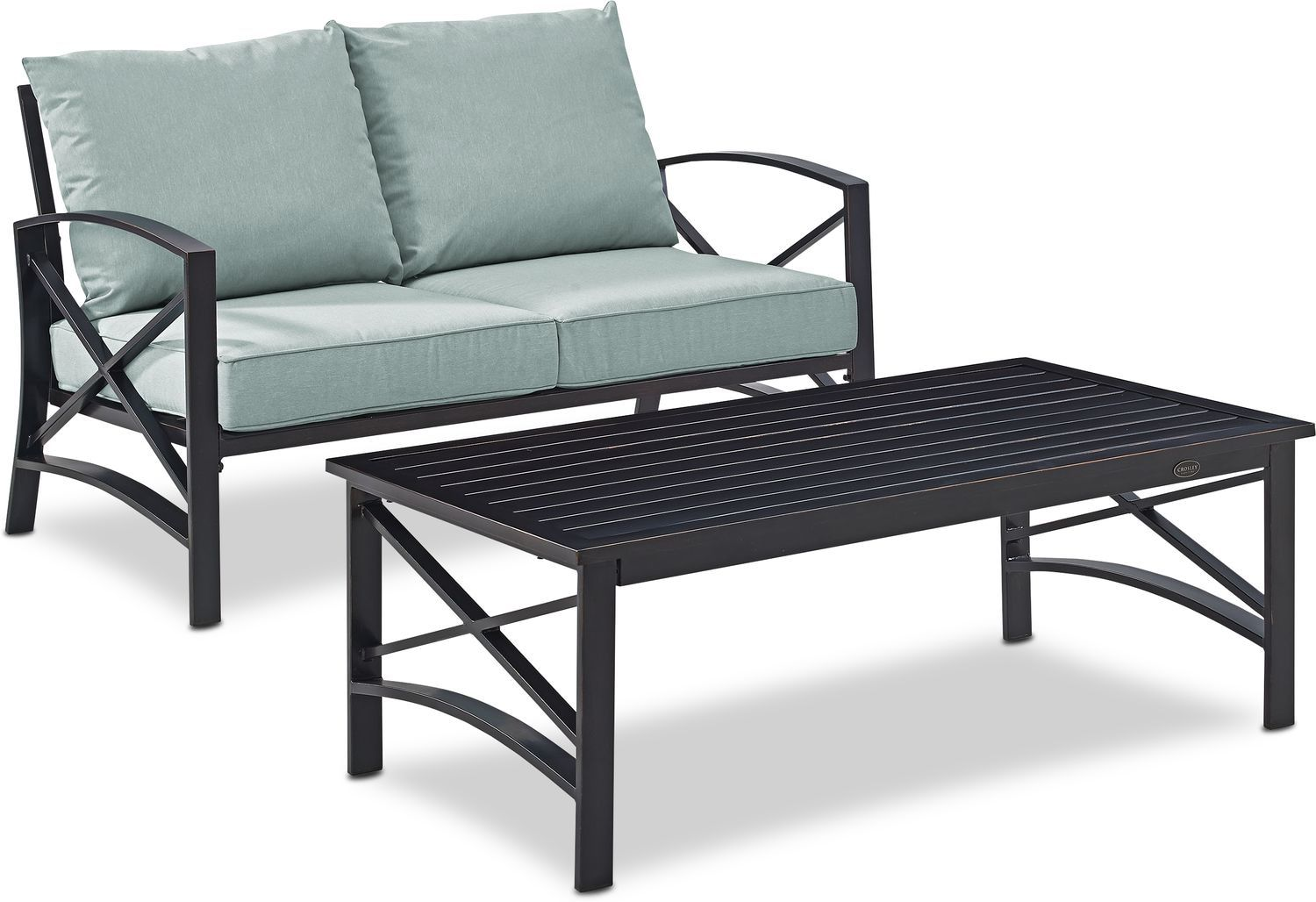 Best Clarion Outdoor Loveseat And Coffee Table Set Outdoor 400 x 300