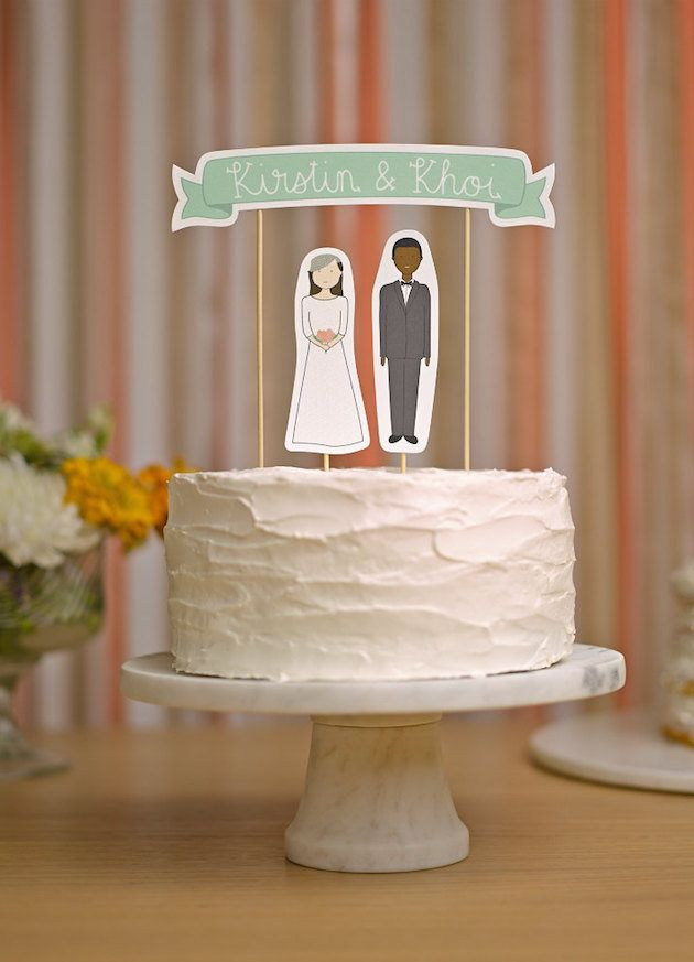 10 Unique Wedding Cake Toppers Unique wedding cakes and Unique