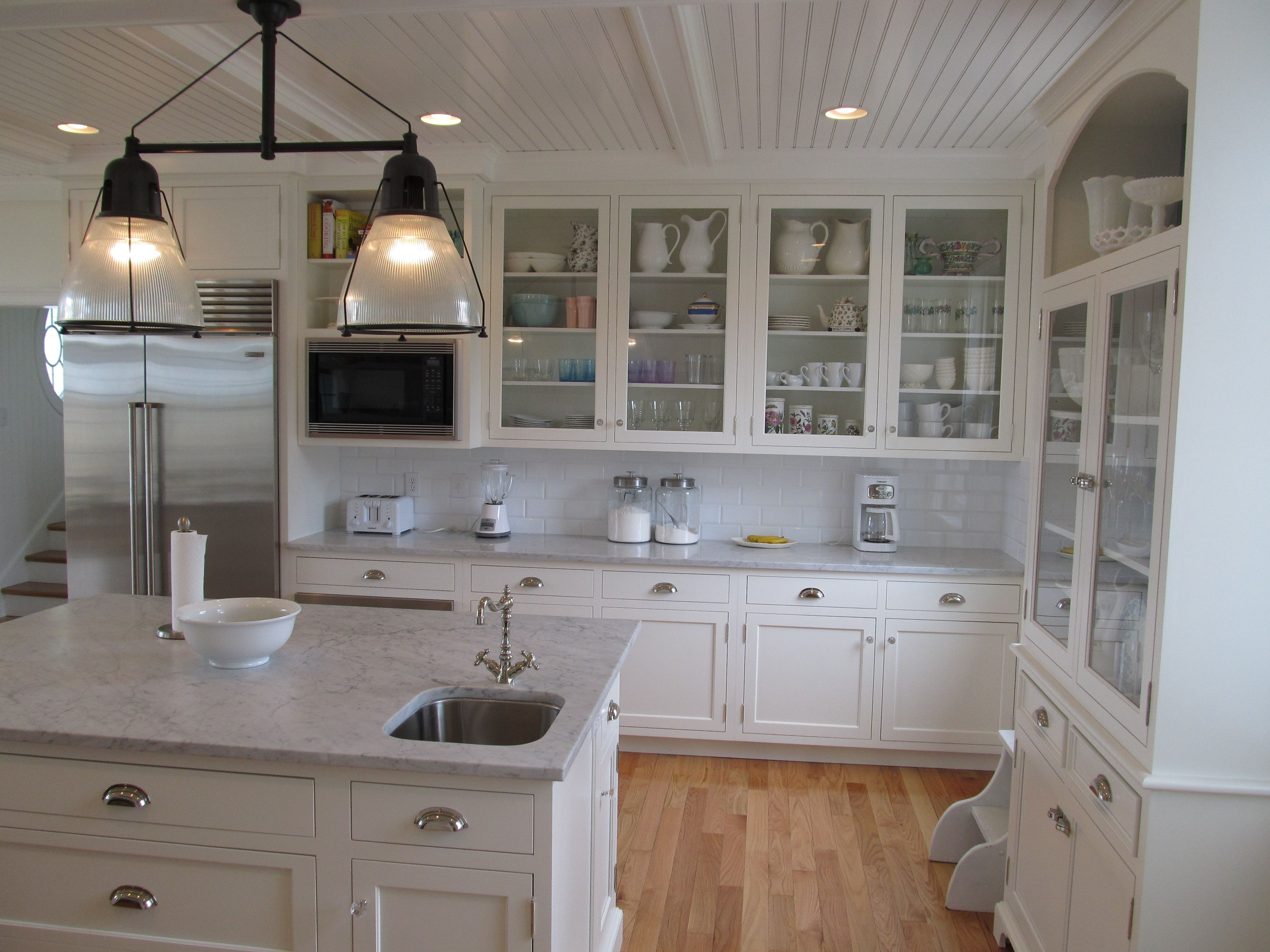 Merveilleux Custom Kitchen Designed By Churchville Kitchen U0026 Home Design, White Painted  Cabinetry, Wood Paneled