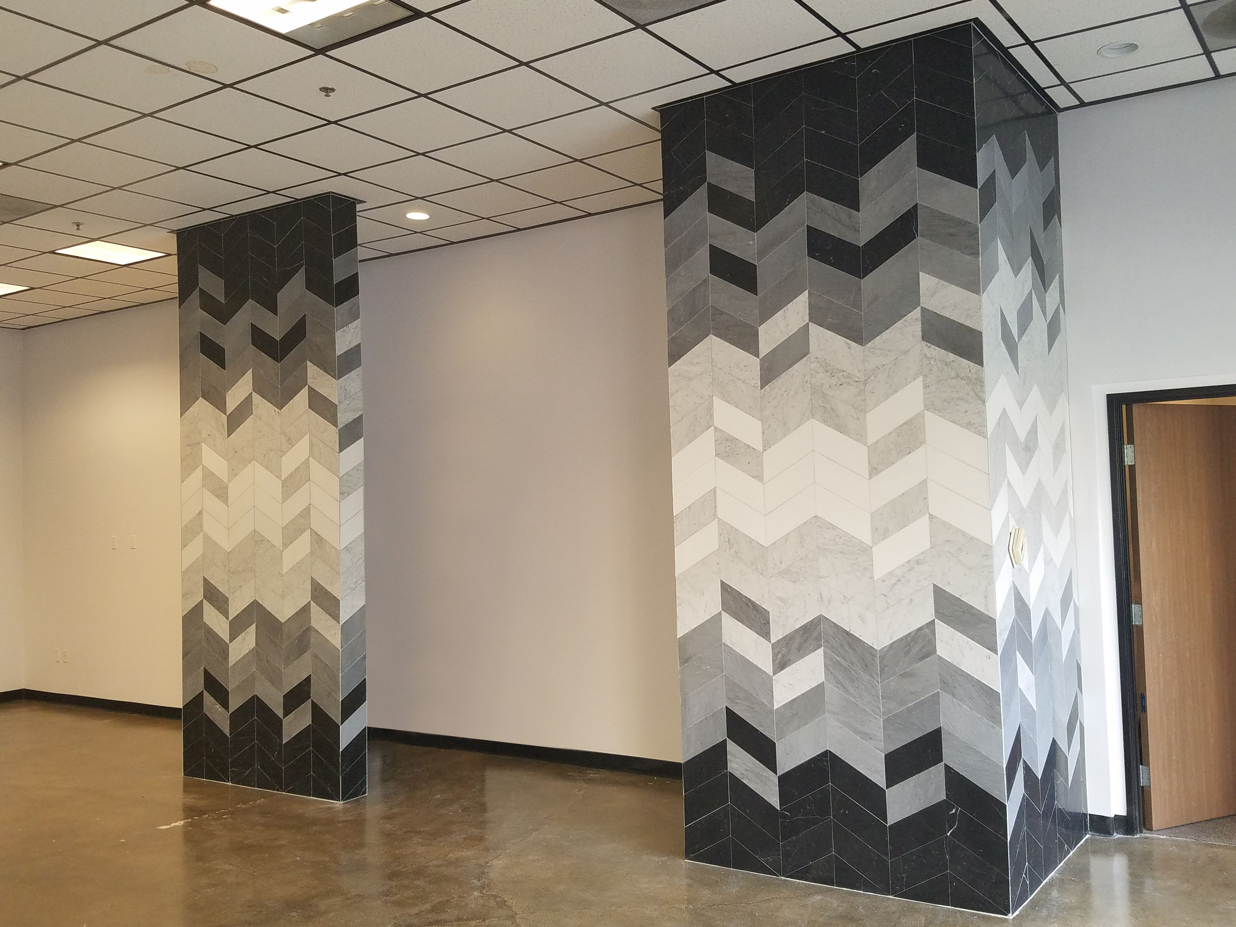 Tile Design Geometric Wall Feature Customization Possible Wowza Stone Products Unlimited Inc Anaheim