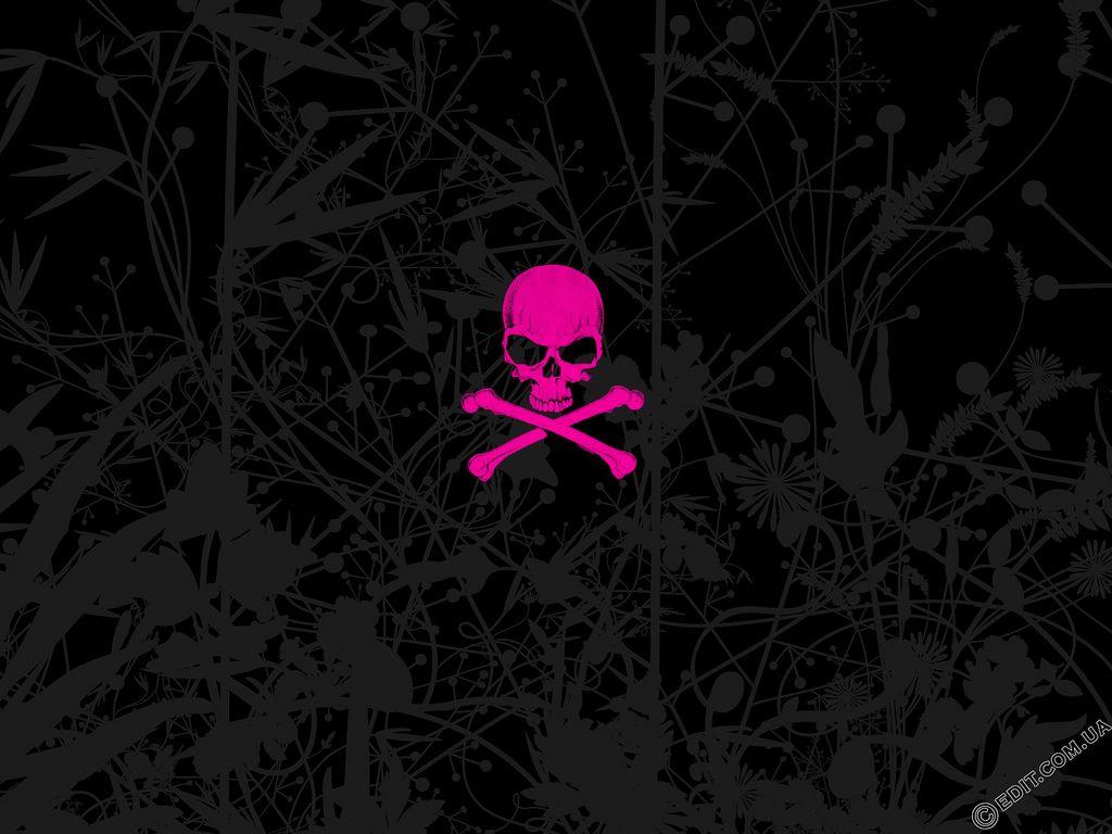 Pink Emo Skull.jpg (1024×768) Emo wallpaper, Skull