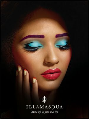 via the illamasqua mermaid illamasqua makeup looks