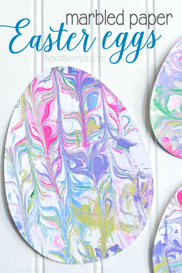 With Just A Few Supplies Make This Fun Easter Egg Craft Using Marbled Paper The Kids Will Have So Much Getting Little Messy And Creating Some