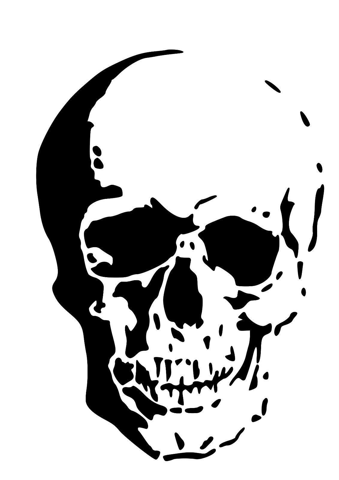 high detail airbrush stencil flame skull FREE UK  POSTAGE