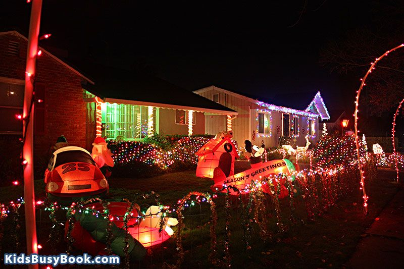 Christmas Lights At 53rd And S Streets In The Fab 40