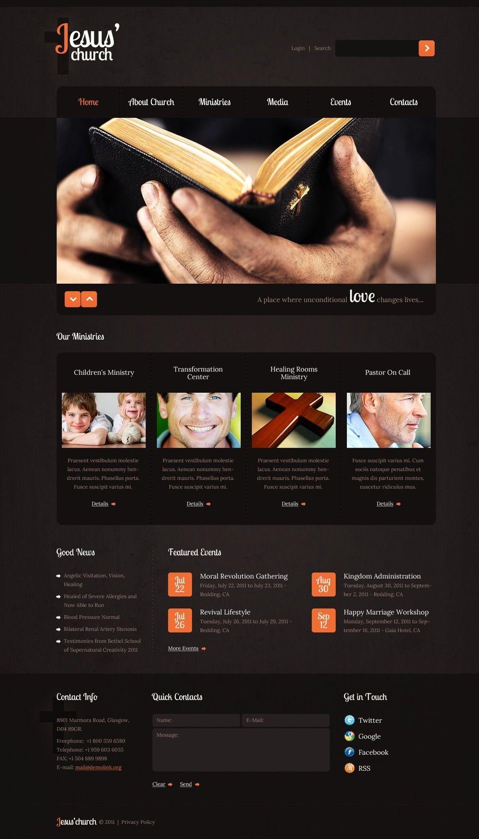 Christian Psd Template Ad Christian Psd Template Psd Templates Templates Web Design Software